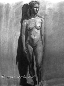 standing nude female